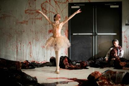 The Ballerina on set.