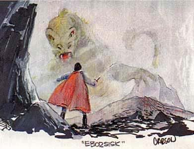 Early concept art of the Eborsisk.