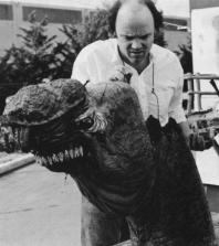Phil Tippett works on the hero head model.