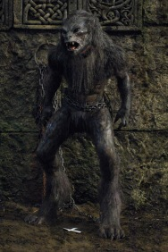 Brian Steele in the 'guardian' Lycan suit.