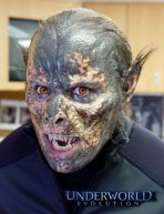 The Lycan mid-transformation make-ups.