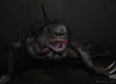 Concept art of the Merman by Joe Pepe.