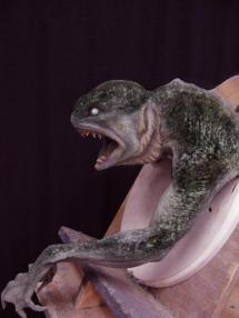 An early Merman maquette, showing influence from 'The Creature from the Black Lagoon'.