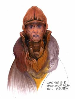 Early Mimic concept art by TyRuben Ellingson showing the 'hood' idea.