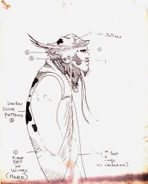 Original Mimic sketch by Guillermo del Toro.