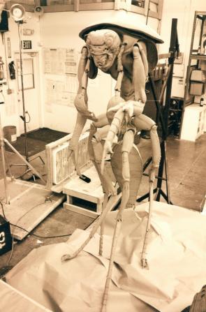 The full Mimic sculpture, underway.