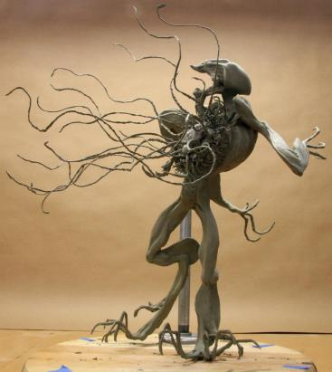 The Pilot Thing maquette, sculpted by Paul Komoda.