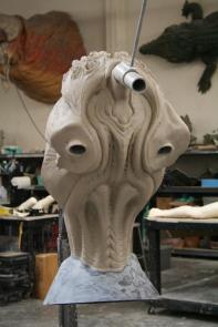 Torso sculpture underway.