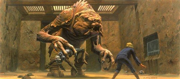 Concept art of the Rancor sequence by Ralph McQuarrie.