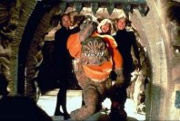 The Rancor suit with crew.