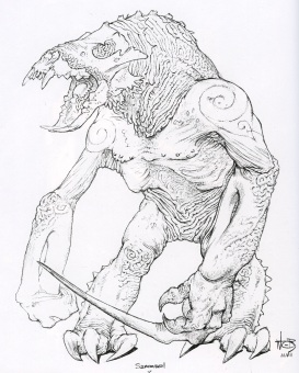 Concept art by Wayne Barlowe, already close to the final design.