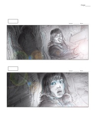 Storyboards of the original Pilot sequence, by Rob McCallum.