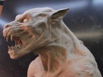The full-size Tunnel Lycan head sculpture.