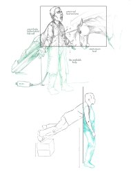 Concept art of the stabbing scene.