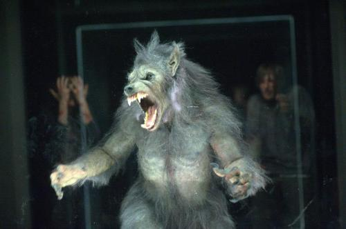 The Werewolf on set.
