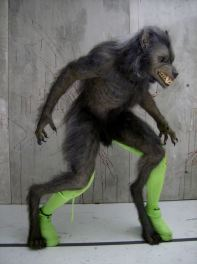 Test for the Werewolf suit, showing different attachment for the left leg.