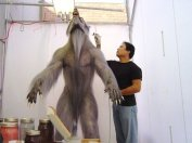 Steve Wang adds some paint modifications to the William suit. At this stage, the hair has yet to be properly treated.