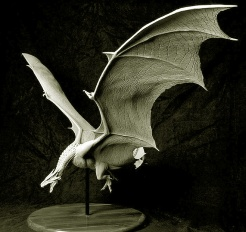 Maquette of the Female Dragon sculpted by Steve Wang on a Miles Teves design.
