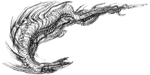 One of Giger's discarded Dragon concepts.