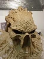 Head sculpture underway.