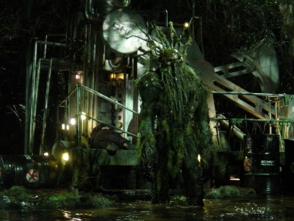 Man-Thing on set!