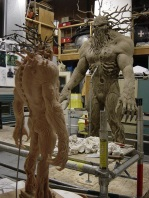 Sculpting the Man-Thing.