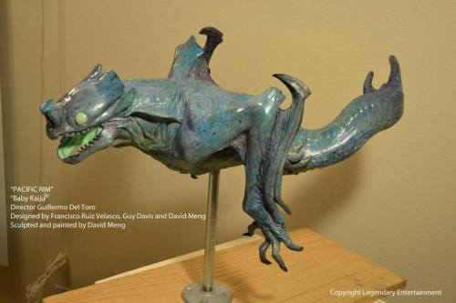 The baby Kaiju Maquette.