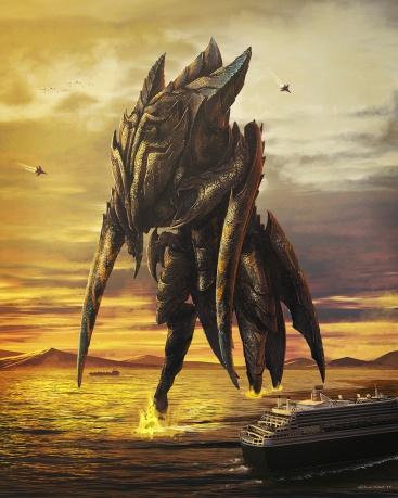 Unnamed kaiju concept art by Carlos Salgado.