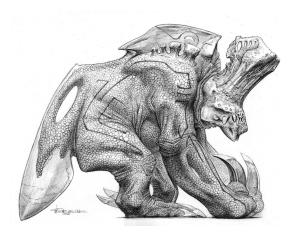 Miscellaneous Monster concept art by Wayne Barlowe.
