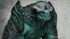 Leatherback concept art by David Meng. It was obtained by digitally painting the grey maquette.