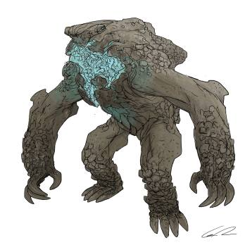 Early Leatherback concept by Guy Davis.