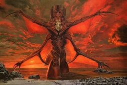 Concept art by Wayne Barlowe. Completed in the early phases of pre-production, it was eventually used as a base for the Precursors.
