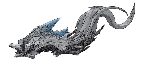 Concept art of Slattern swimming by Guy Davis.
