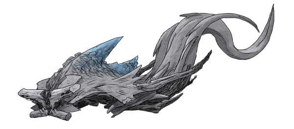 Concept art of Slattern swimming by Guy Davis.