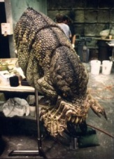 The Kothoga's head, before the mandible teeth and the mane were attached.