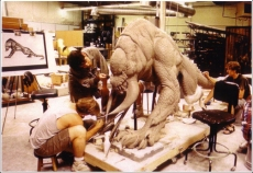 Sculpting the beast.