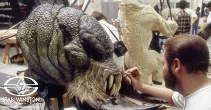 Painting the Kothoga's teeth.