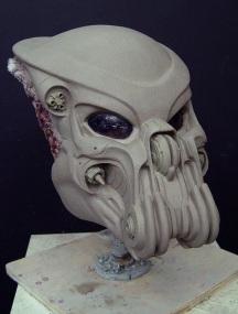 Celtic's mask sculpture, by Bruce Spaulding Fuller.