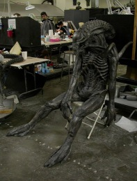 Stunt Alien dummy.