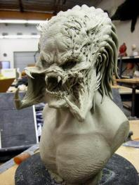 Wolf head maquette by Steve Wang.