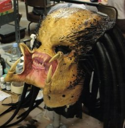 The Predator head.