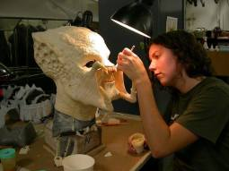 Seaming the Predator head.