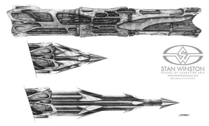 Spear designs.