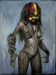 Unused Female Predator concepts.