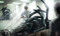 Concept art of the autopsy.