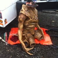 The gore stunt Skitter puppet.