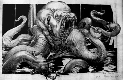 Concept art by Rob Bottin.