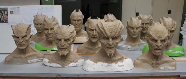 Demon sculptures.