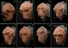 Various sculptures of the homunculi, created at Spectral Motion.