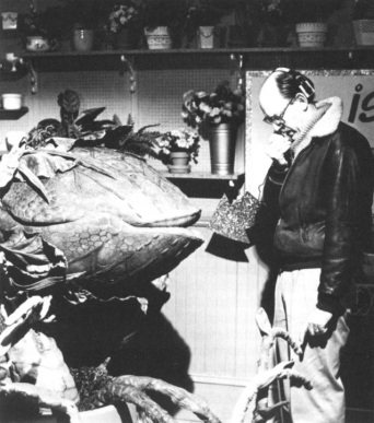 Frank Oz with the Feed Me stage Plant.